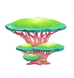 Fantasy cartoon mushroom vector