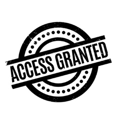 Access granted rubber stamp vector