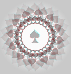 Spades 3d background vector image