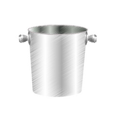 Ice bucket icon image vector