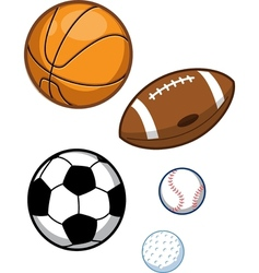 Assorted sports balls vector