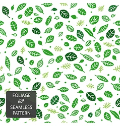 Foliage seamless pattern green vector