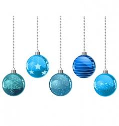 Christmas color balls vector image