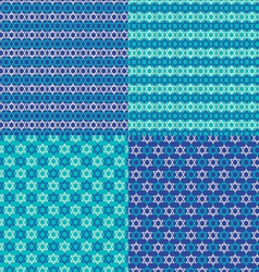 jewish star patterns vector image