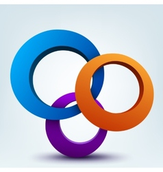 Abstract 3d of 3d rings vector