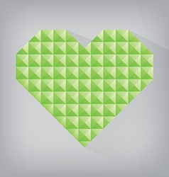 Green earth retro heart triangle abstract love vector