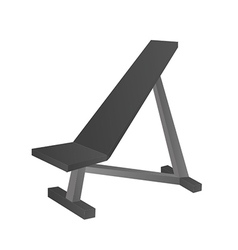 Incline Bench vector image