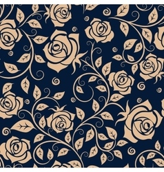 Medieval seamless pattern with roses vector image