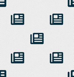 Book newspaper icon sign seamless pattern with vector