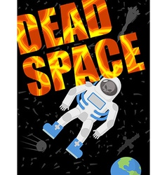 Dead space Astronaut died Skull in a spacesuit vector image
