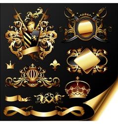 ornamental heraldic elements vector image