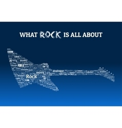 Rock guitar words design vector