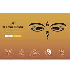 Spiritual growth concept vector