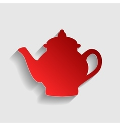 Tea maker sign vector