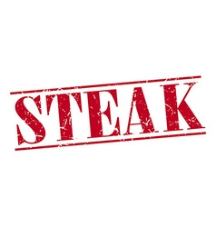 Steak red grunge vintage stamp isolated on white vector