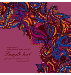 abstract background with a paisley pattern vector image
