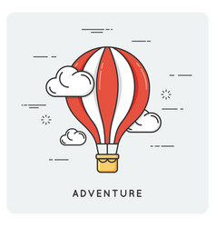 adventure and exploration flat thin line concept vector image vector image