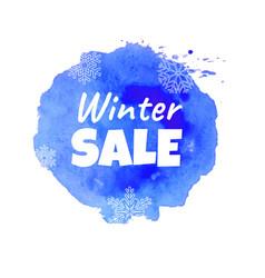 blue sale banner vector image