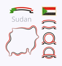 Colors of Sudan vector image vector image