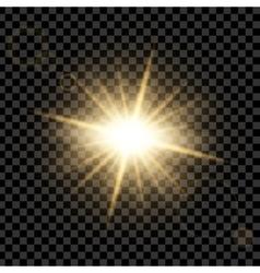 Creative concept set of glow light effect vector