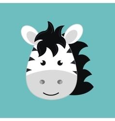 Cute zebra isolated icon design vector
