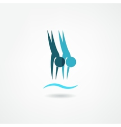 dive icon vector image