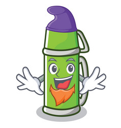 Elf thermos character cartoon style vector