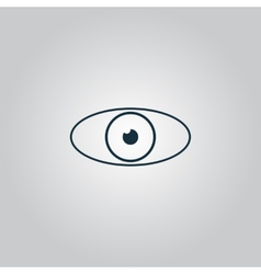 Eye icon Flat design style vector image