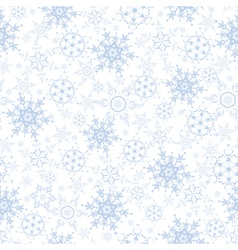 Festive decorative seamless pattern with snowflake vector image