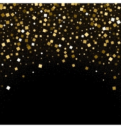 Gold confetti glitter on black background vector image vector image