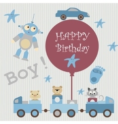 Greeting card for baby3 vector