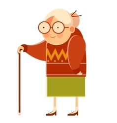 Happy cartoon Grandmother vector image