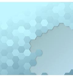 Hexagon cell template - modern background vector