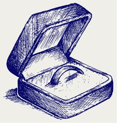 Jewelry box vector image vector image