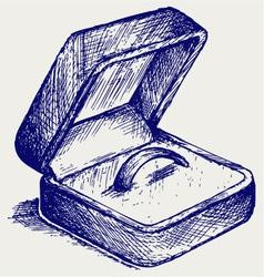 Jewelry box vector image