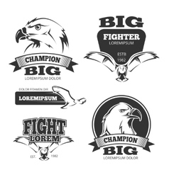 Military eagle heraldry labels logos vector image