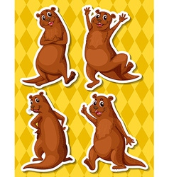 Otters vector