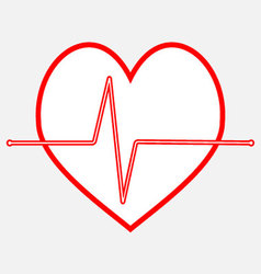 Pulse heartbeat icon line vector