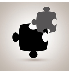 Puzzle piece icon design vector