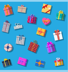 set of gift boxes isolated on white vector image vector image