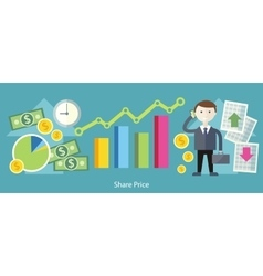 Share Price Exchange Concept Design vector image