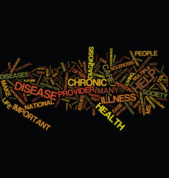 ten tips to help ease life with a chronic disease vector image vector image