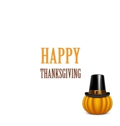Thanksgiving day card with pumpkin vector