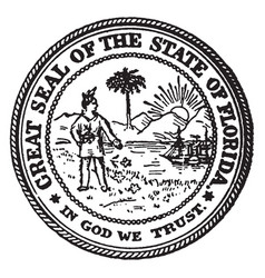 The great seal of the state of florida vintage vector