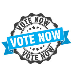 Vote now stamp sign seal vector