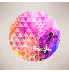 watercolor planet backgroundround ra vector image