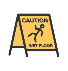 Wet floor sign vector