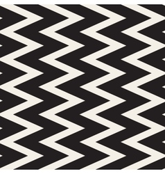 Seamless black and white zigzag lines vector