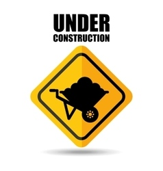 Under construction flat icons vector