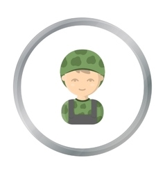 Soldier cartoon icon for web and vector
